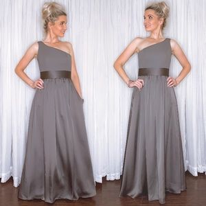 Vera Wang Dresses - Vera Wang Charcoal Grey Bridesmaid Formal Dress
